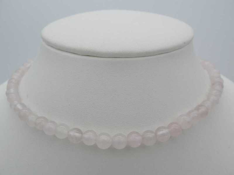 Collier quartz rose 45cm