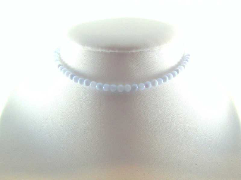 Collier Calcédoine Bleue D3MM
